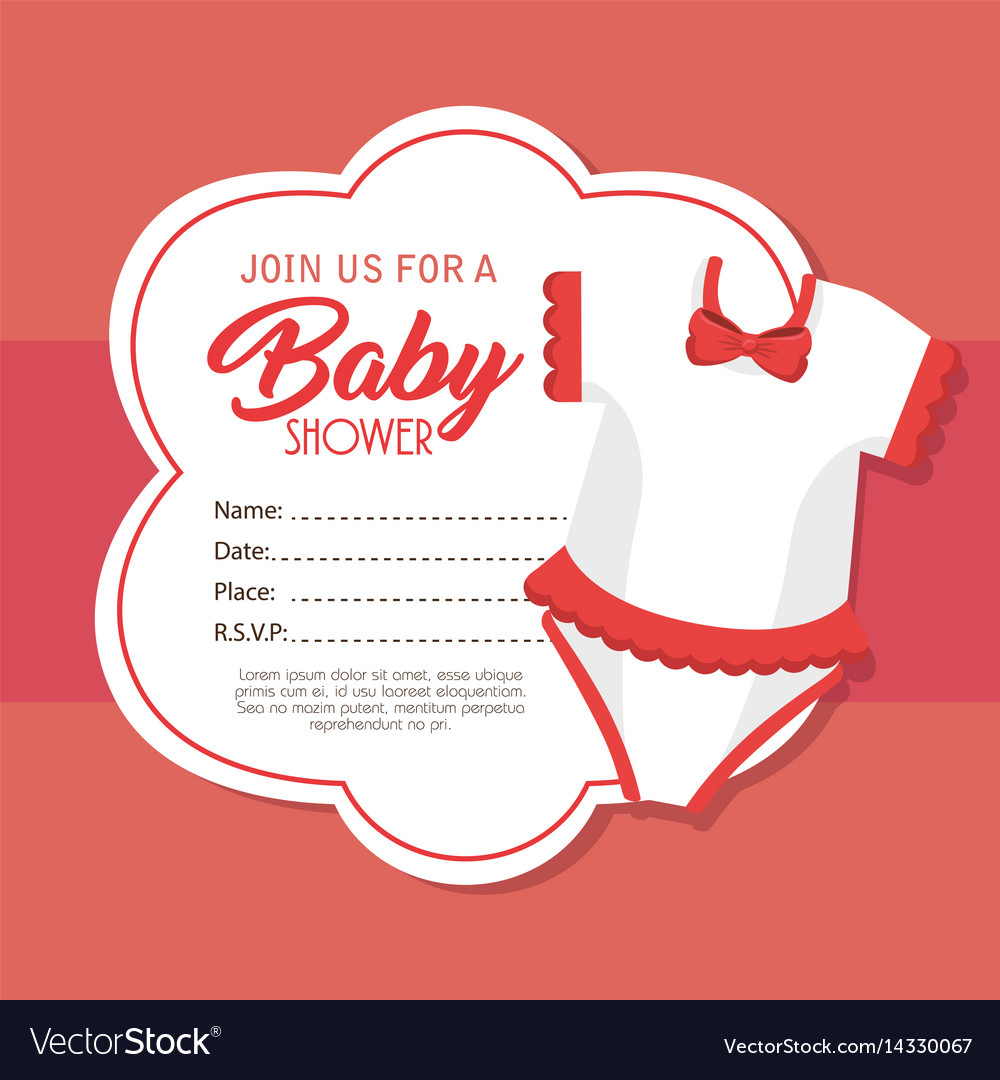 Baby shower invitation card Royalty Free Vector Image