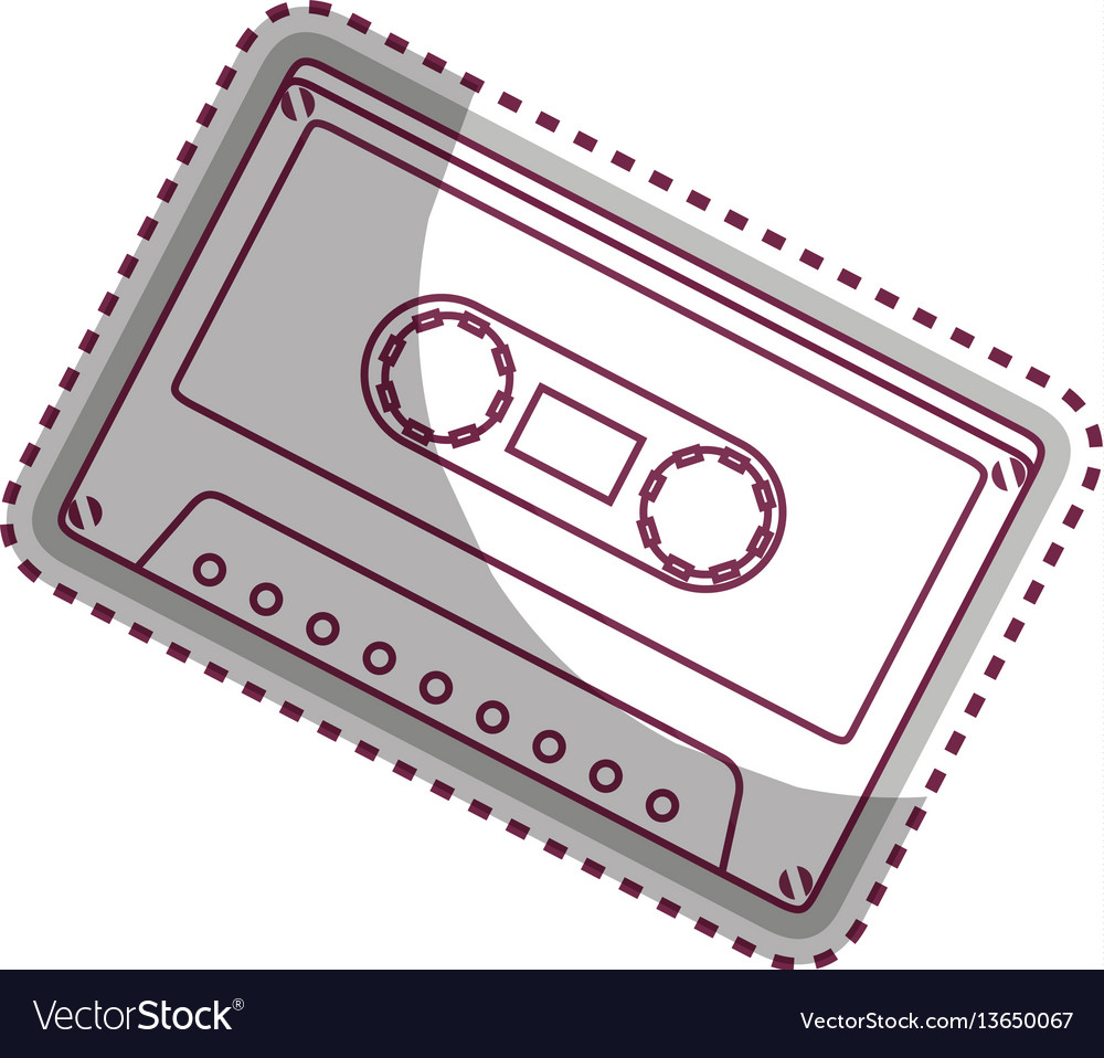 Cassette old music icon