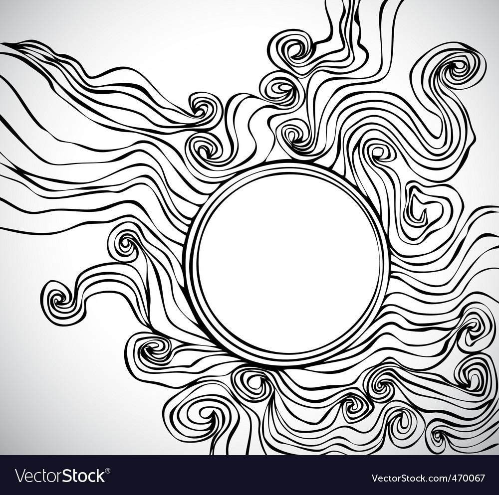 Doodle abstract frame vector image