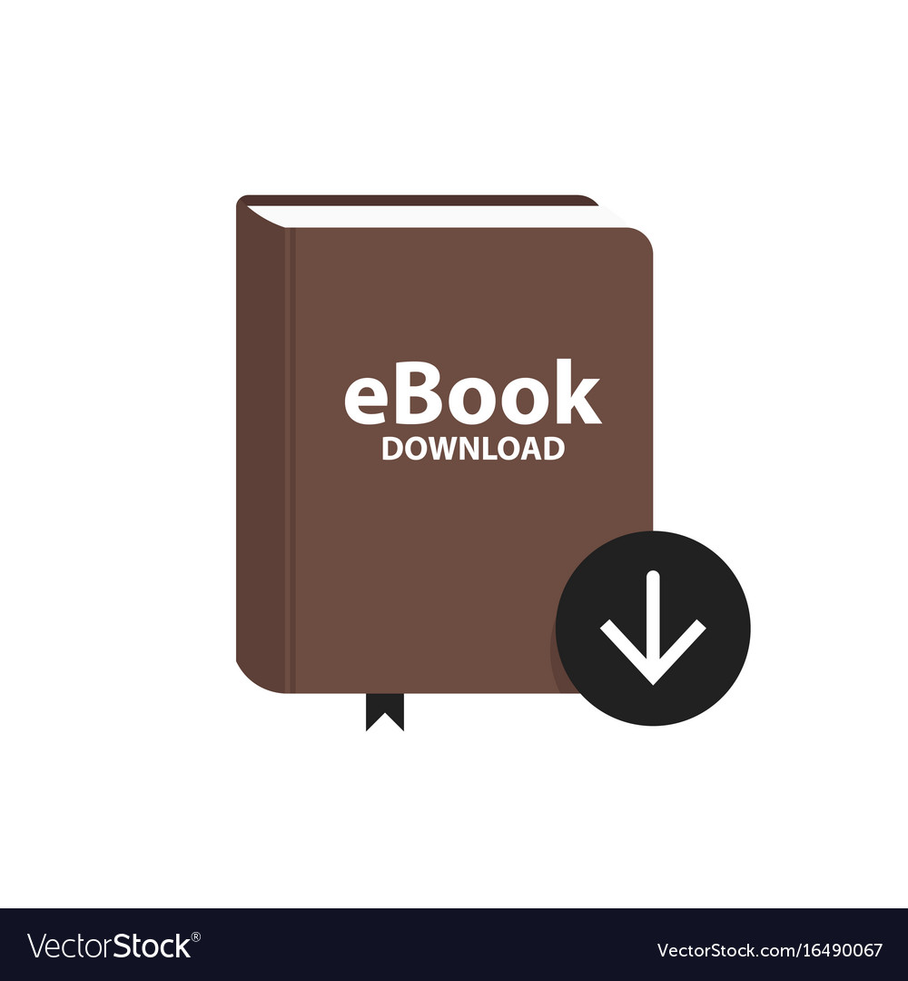 E-book icon with download arrow button online