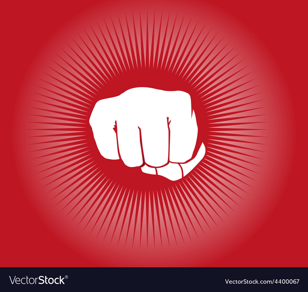 Fist power punch background