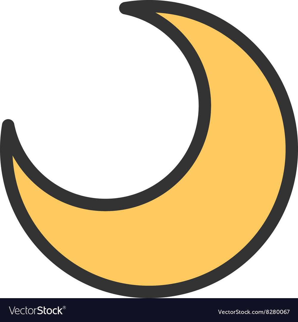 half moon royalty free vector image vectorstock vectorstock