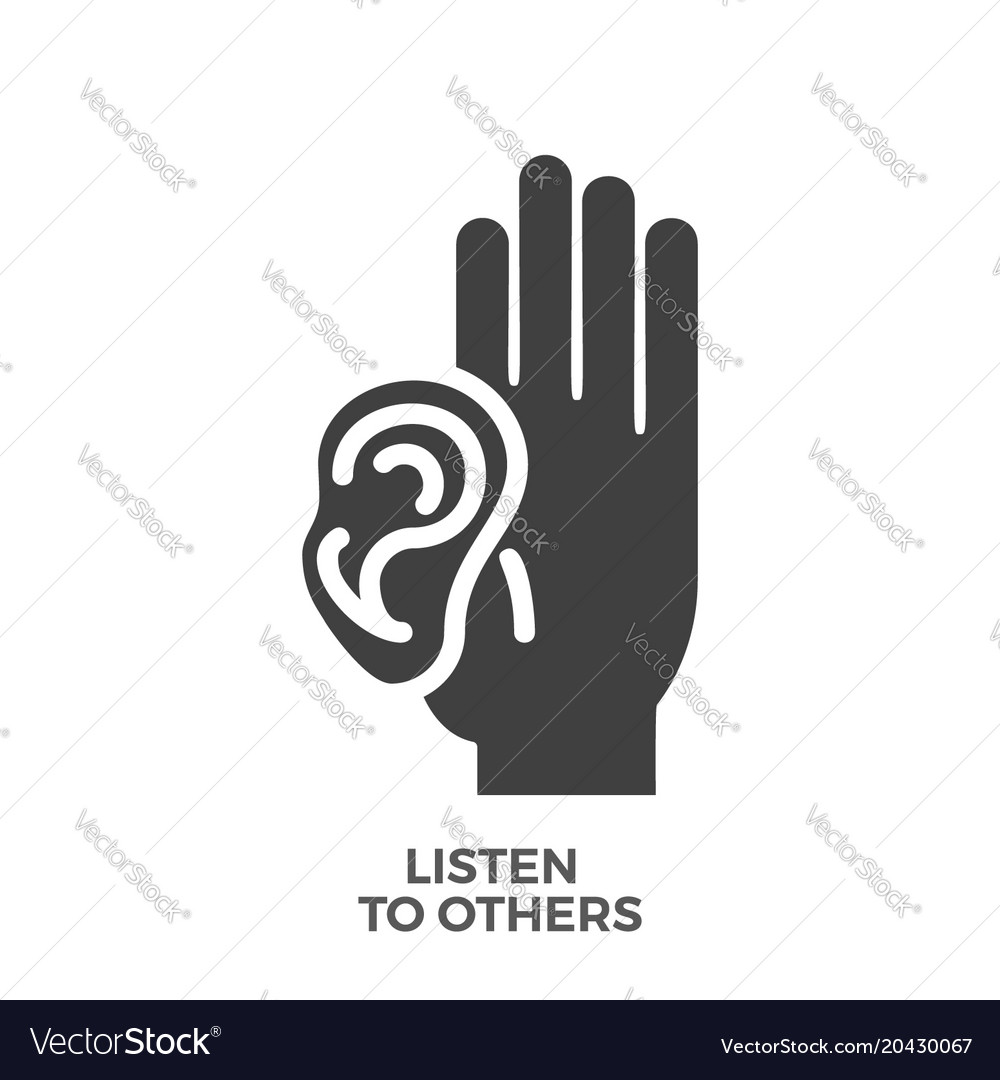 Listen to others glyph icon