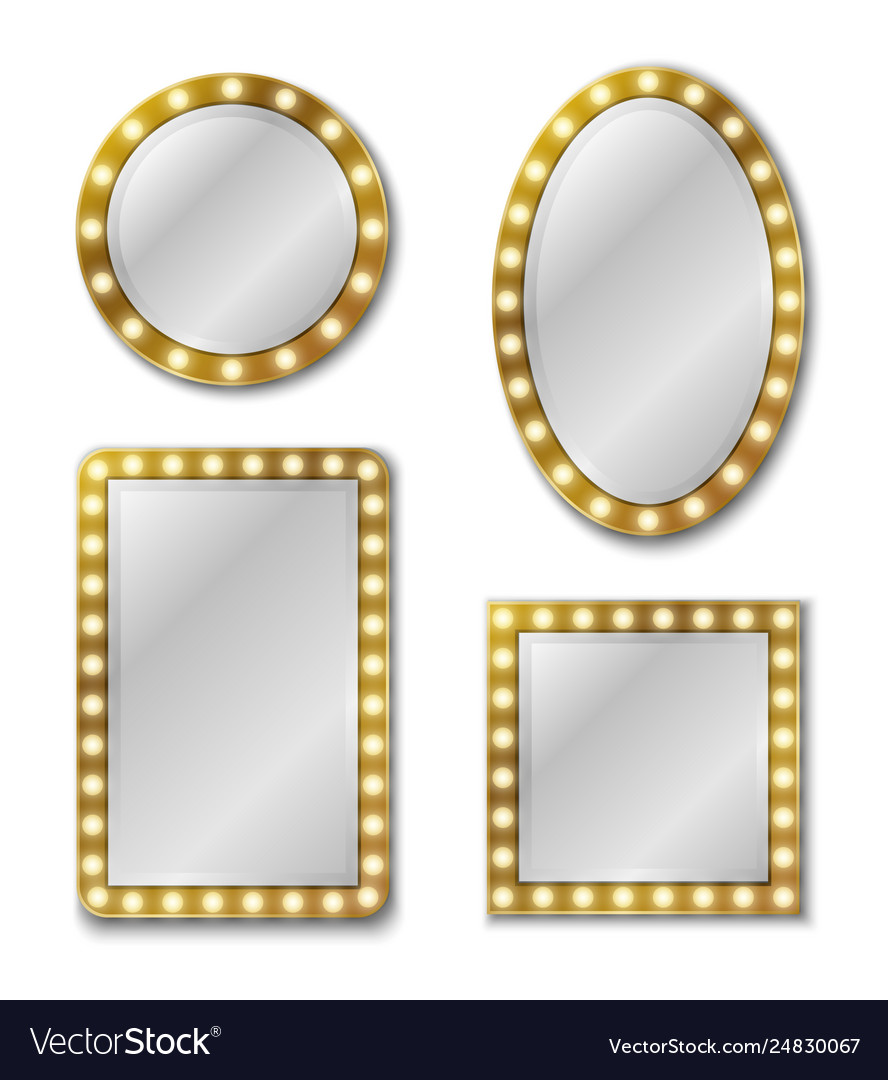 Makeup mirror mirroring reflection surface