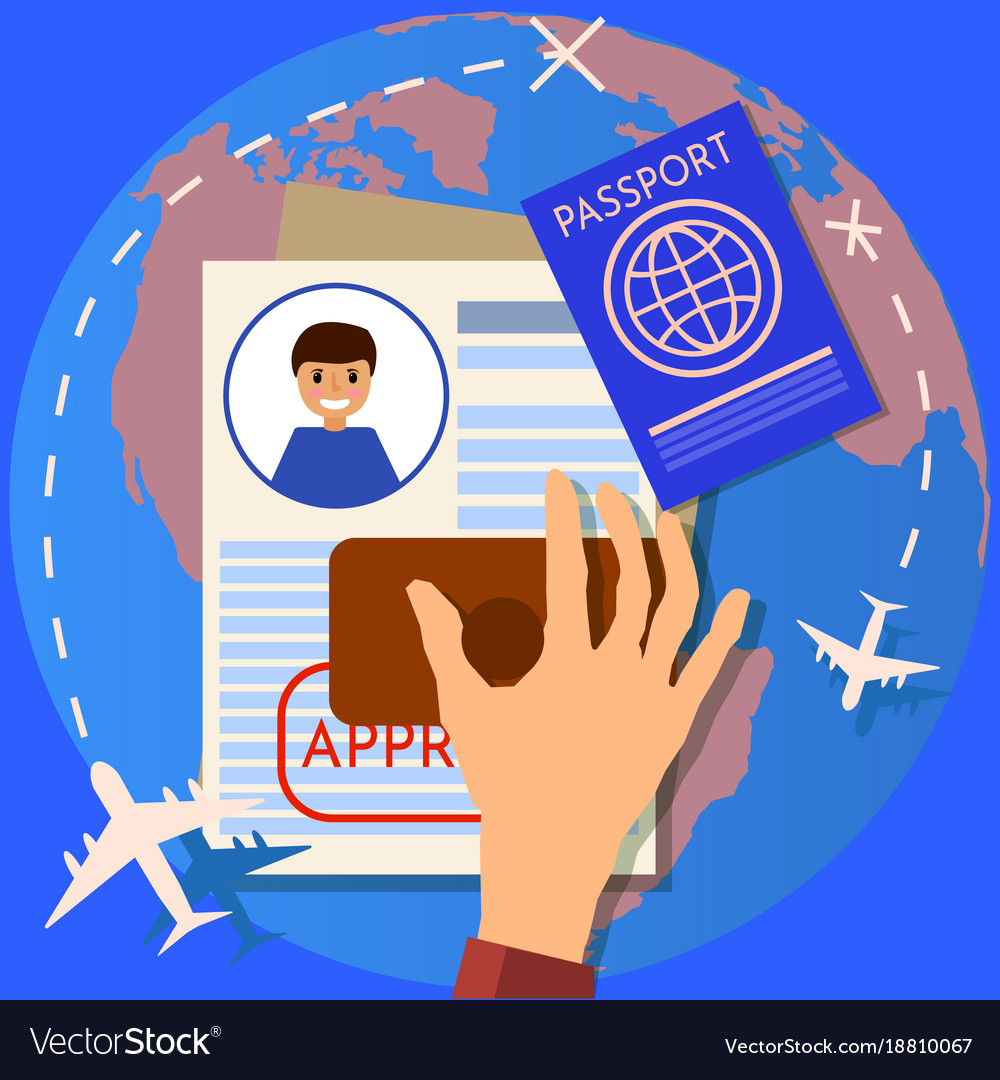 Passport or visa application travel immigration