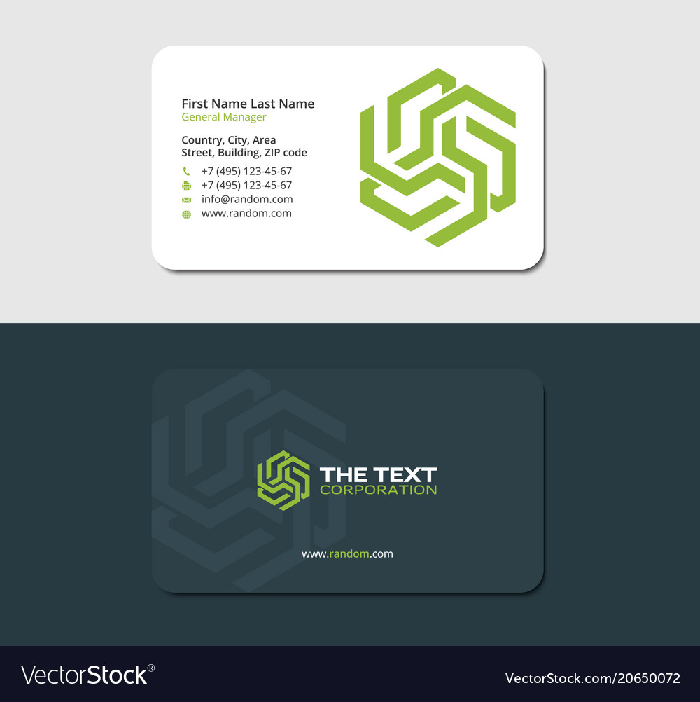 Business card wind energy green color royalty free vector business card wind energy green color vector image reheart Choice Image