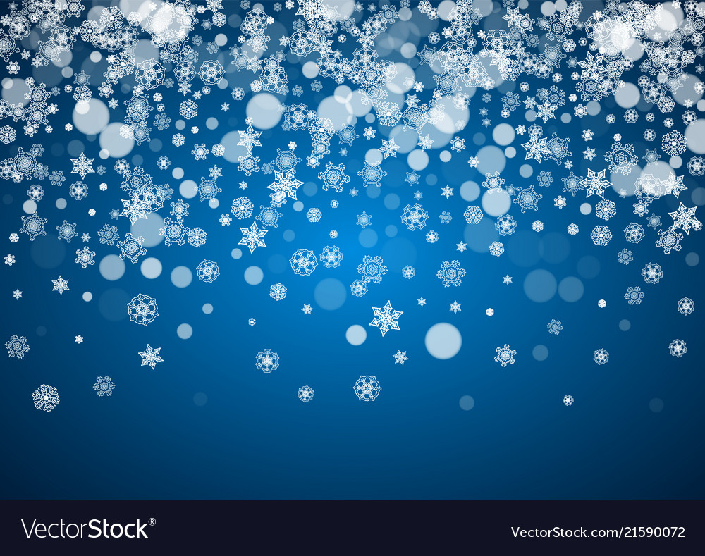 Christmas frame with falling snow