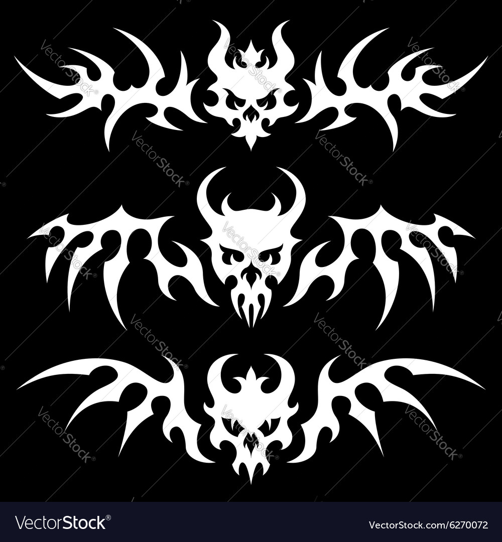 Death skulls wings