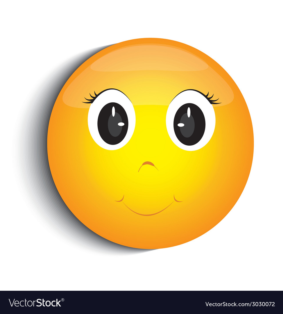 Happy smiley face vector image