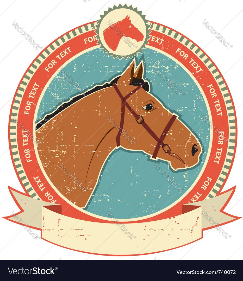 Horse head label