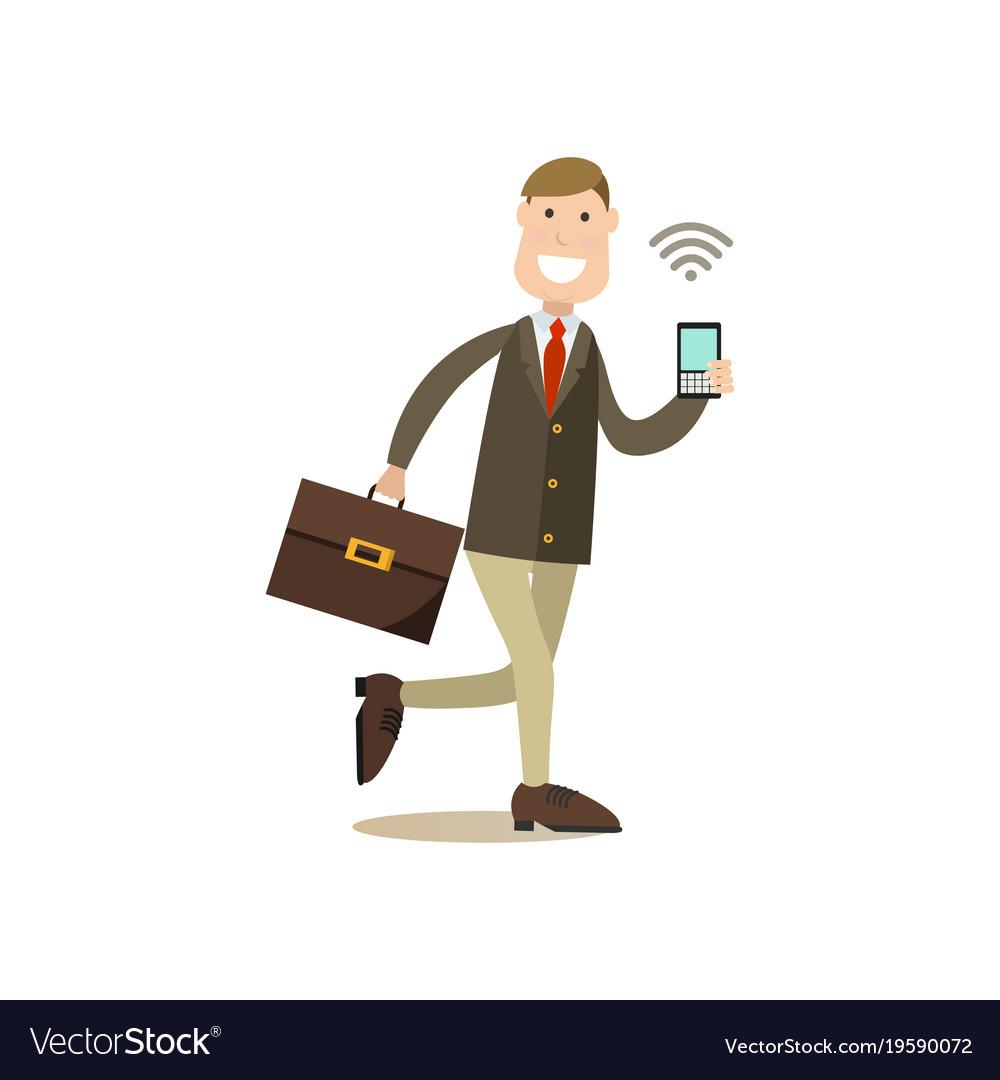Internet people flat vector image