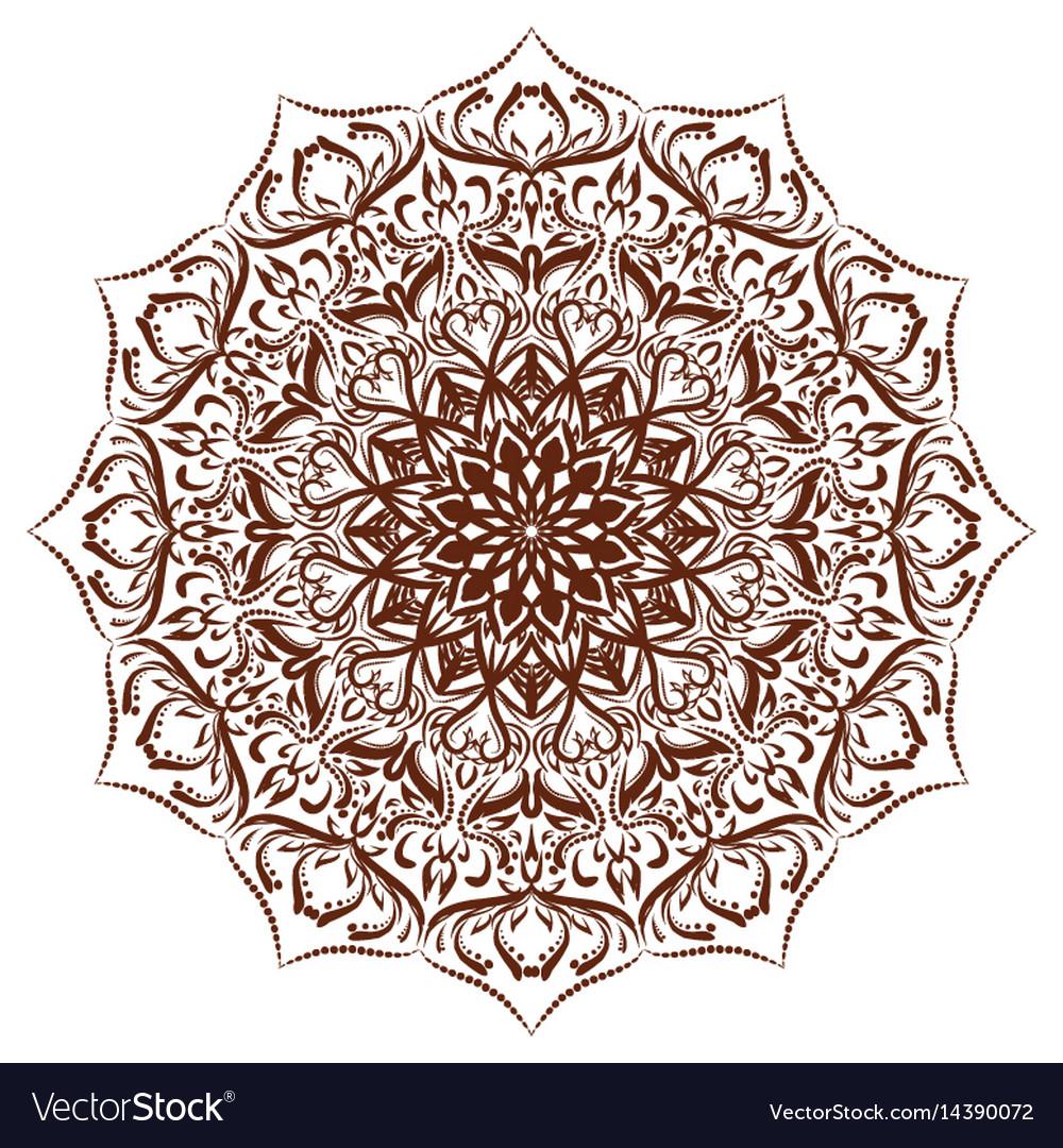 Mandala floral ornament