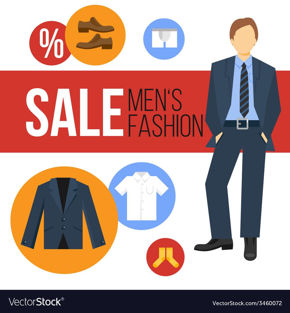 Men Fashion Clothes Sale vector image