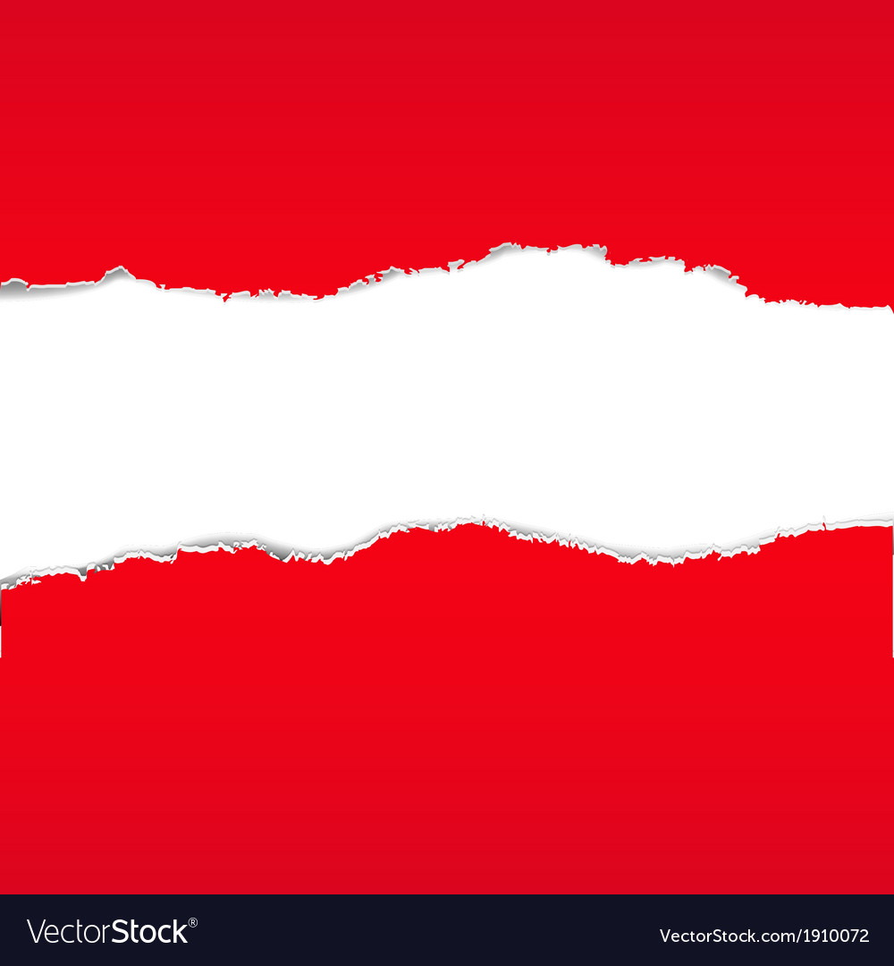 Red Torn Paper Borders Background