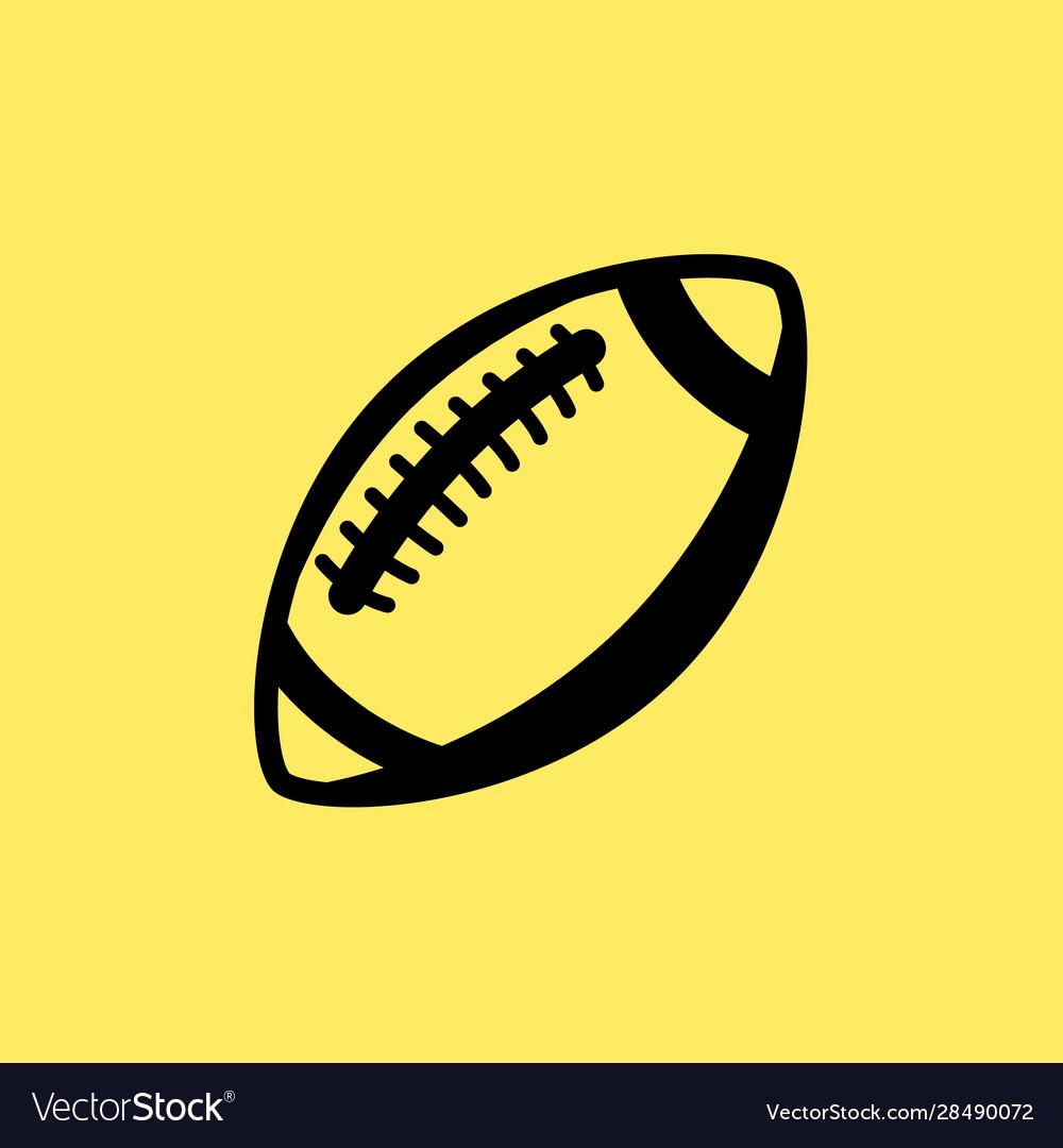 Rugball line icon football american