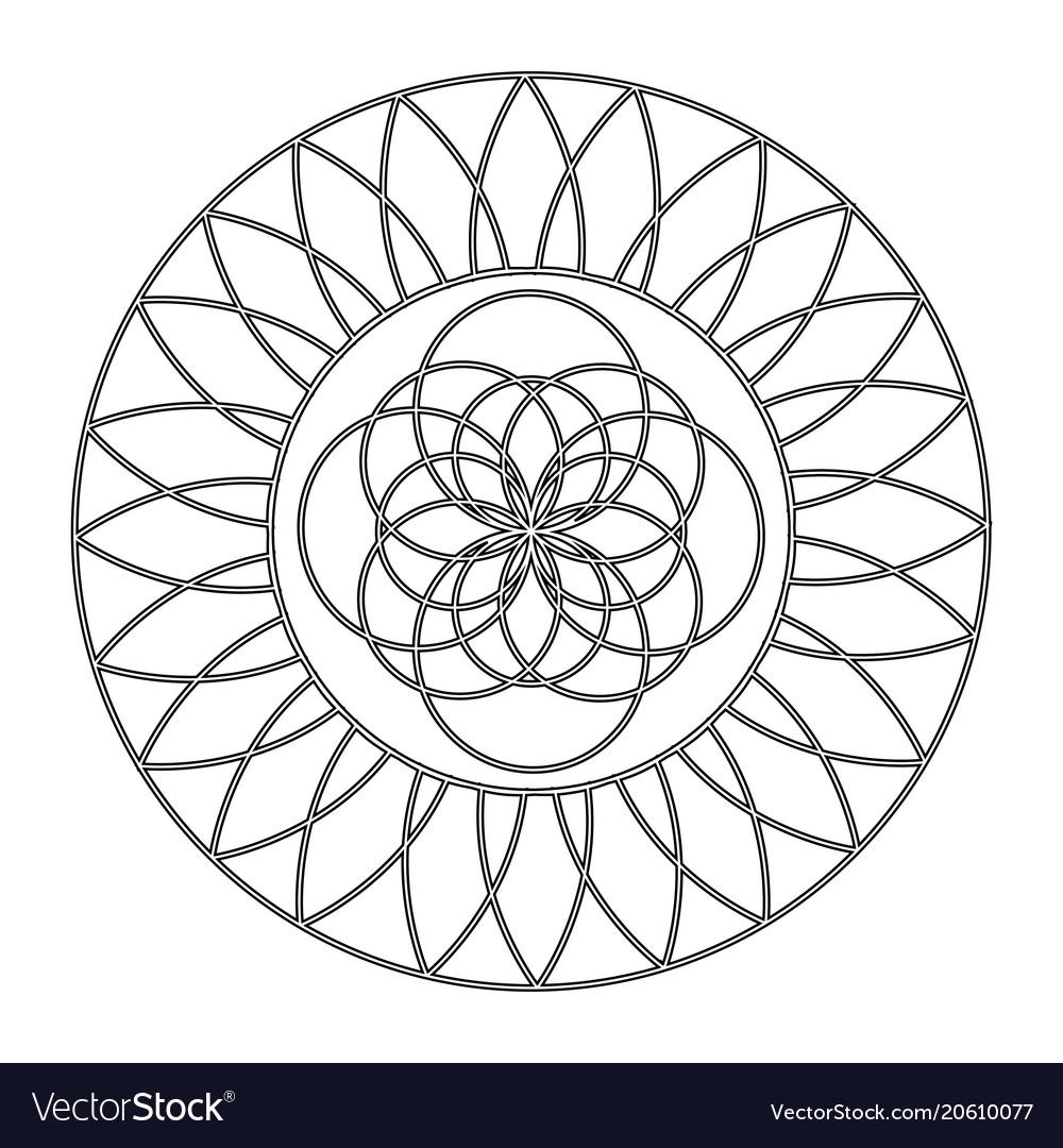 Abstract cute mandala