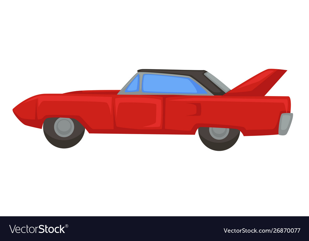Retro sport vehicle 1970s muscle car isolated