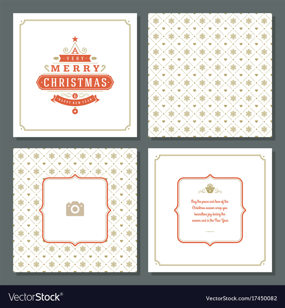 Christmas greeting card design and pattern