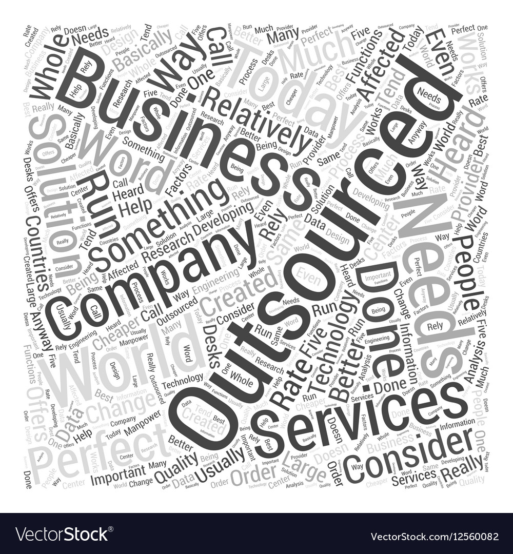 Outsourcing services Word Cloud Concept