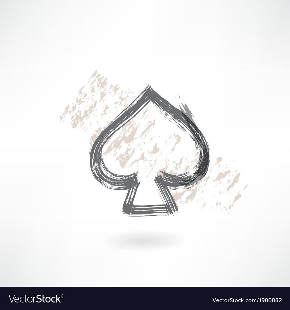 Spades cards grunge icon