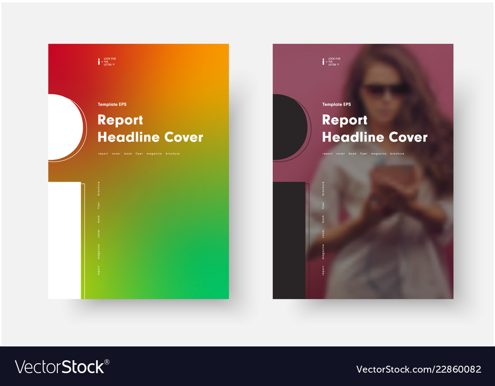 Template with a soft gradient and a place for a