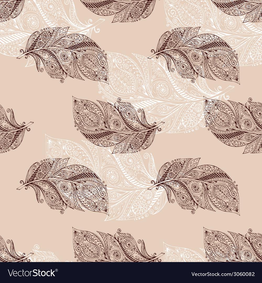 Vintage seamless pattern with original hand drawn