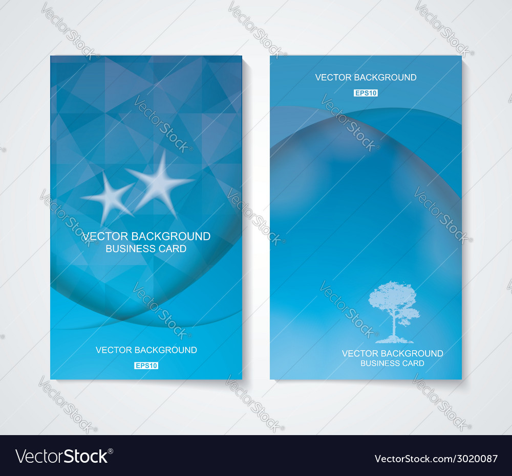 Abstract business cool blue banner set