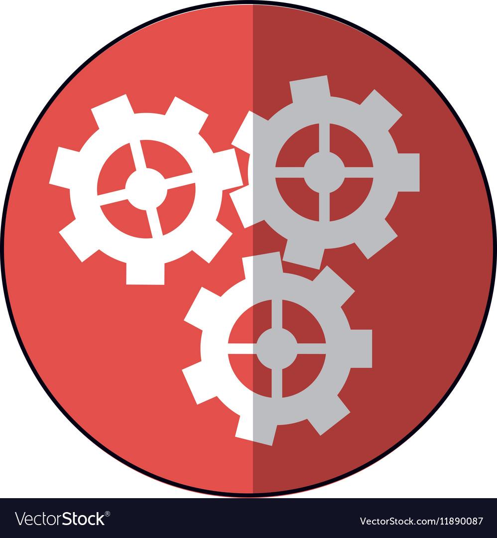 Gear wheel engine cog icon pink shadow