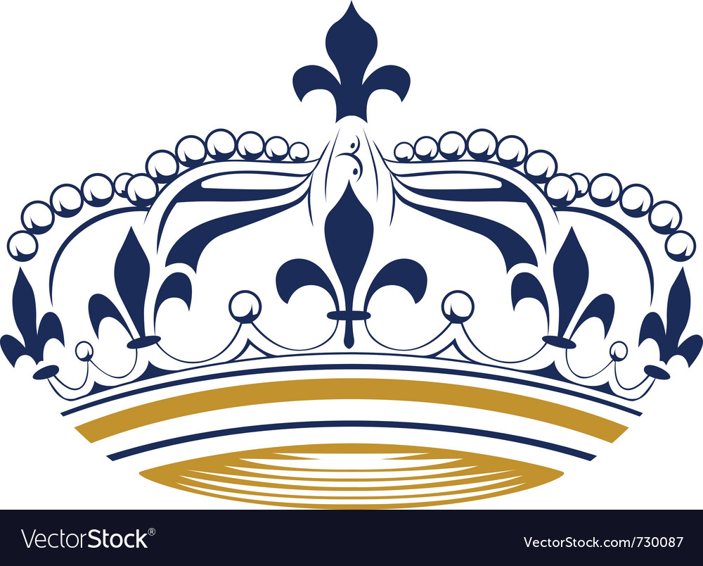 Retro king crown