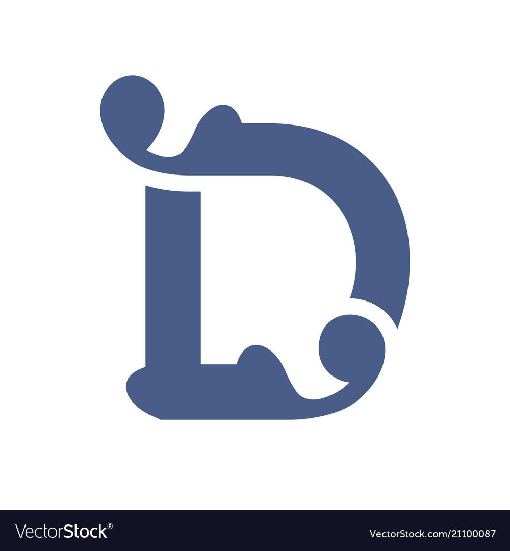 Sign letter d