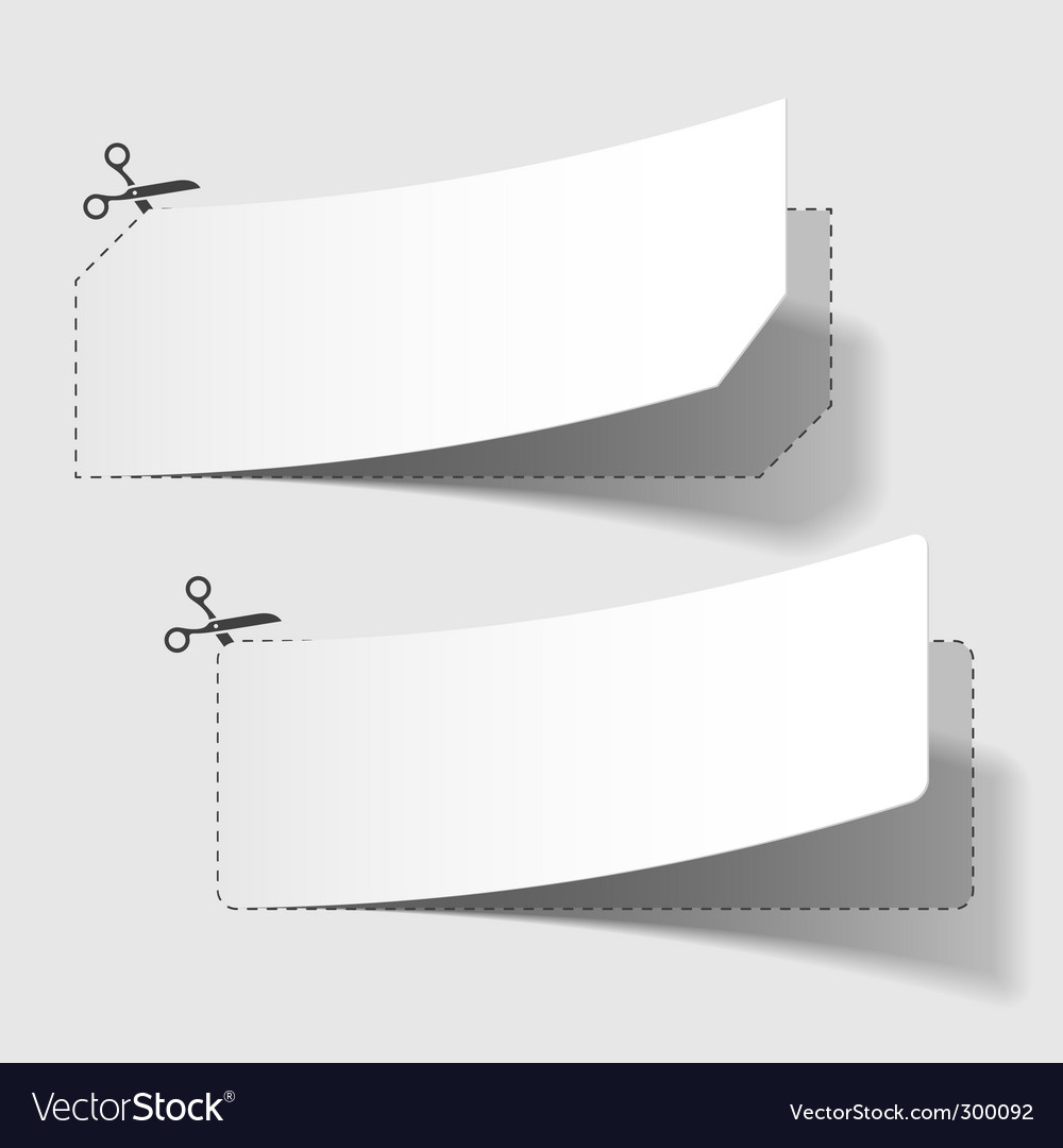 Advertising coupons vector image