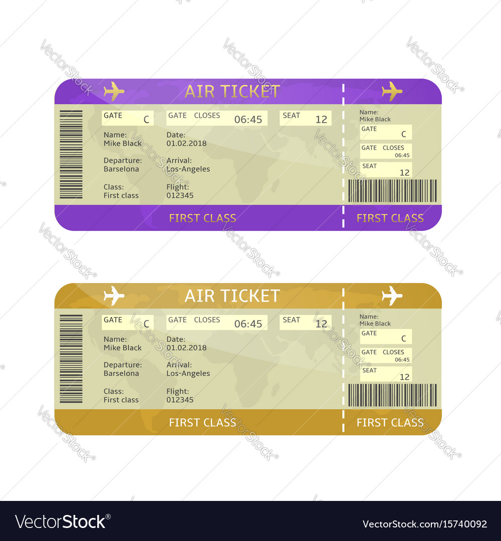 Airline boarding pass tickets