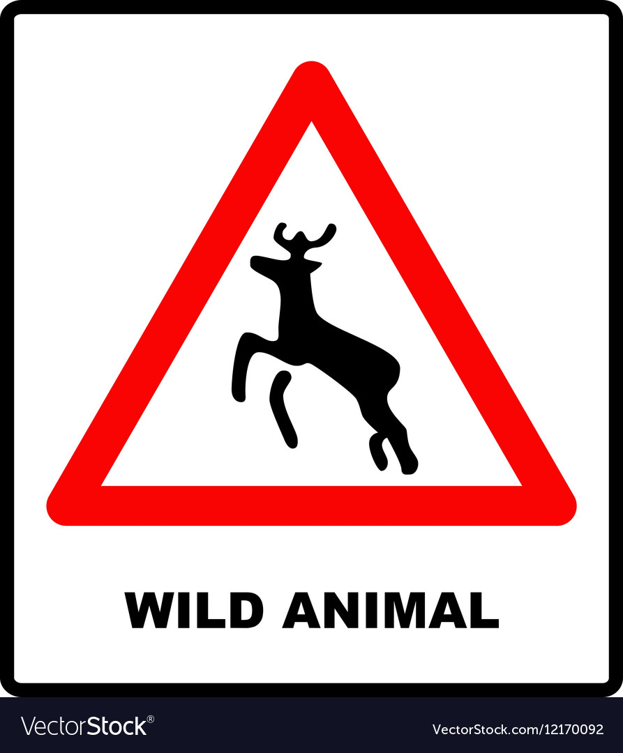 Beware deer crossing warning traffic signs