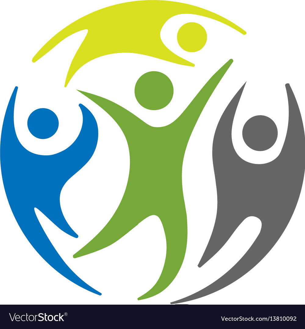 Circle people social groups logo