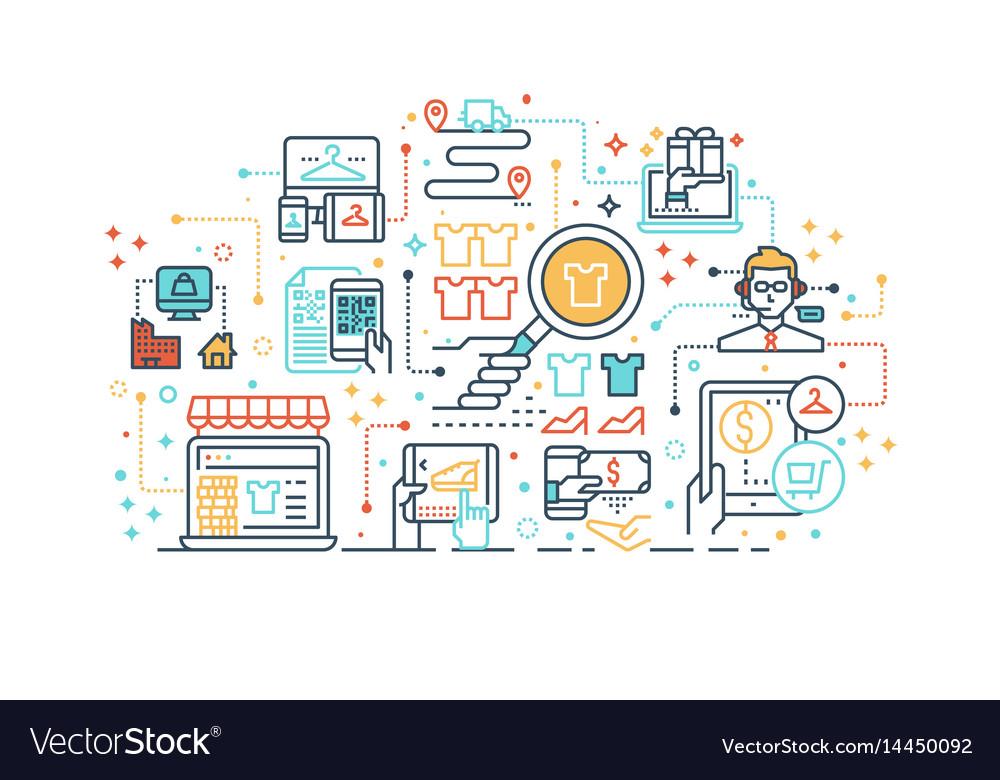 E-commerce online shopping concept