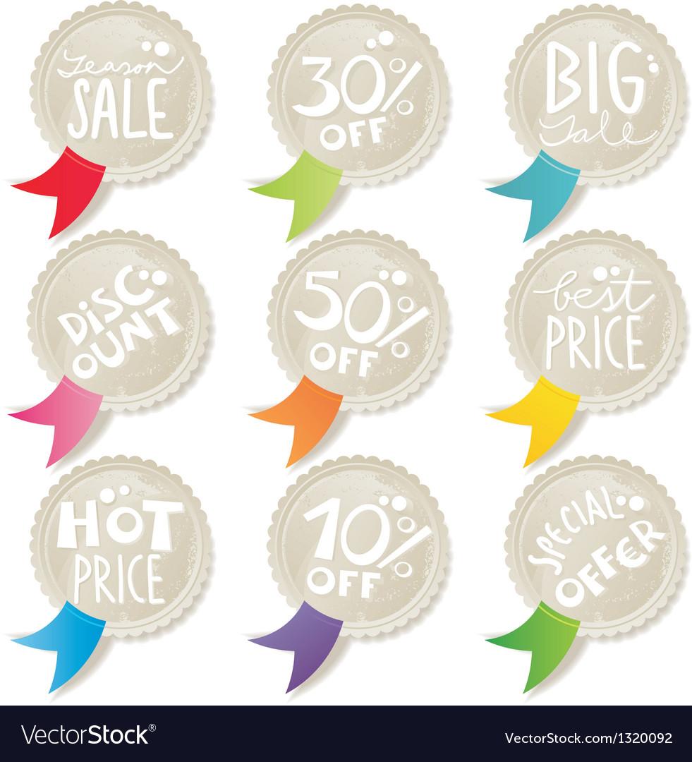 Sale label set