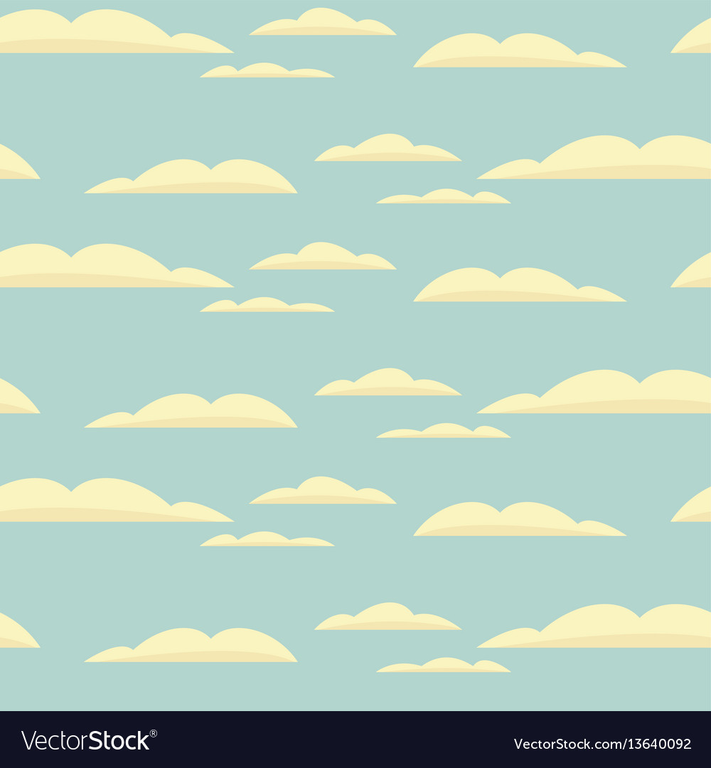 Seamless background with blue sky and clouds