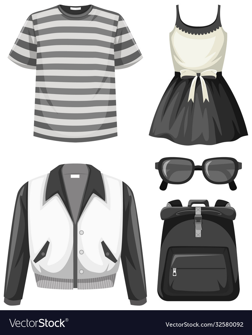 Set black and white outfits
