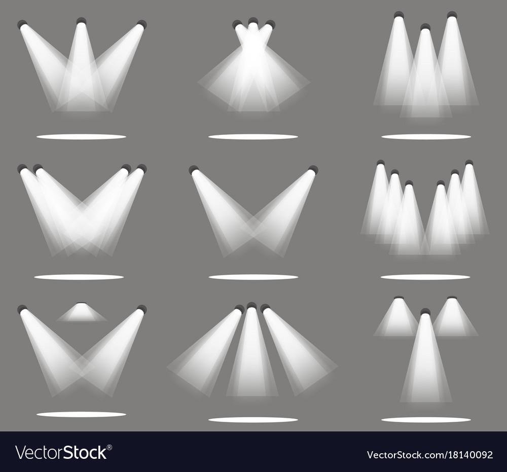 Spotlight light spot stage background scene vector image