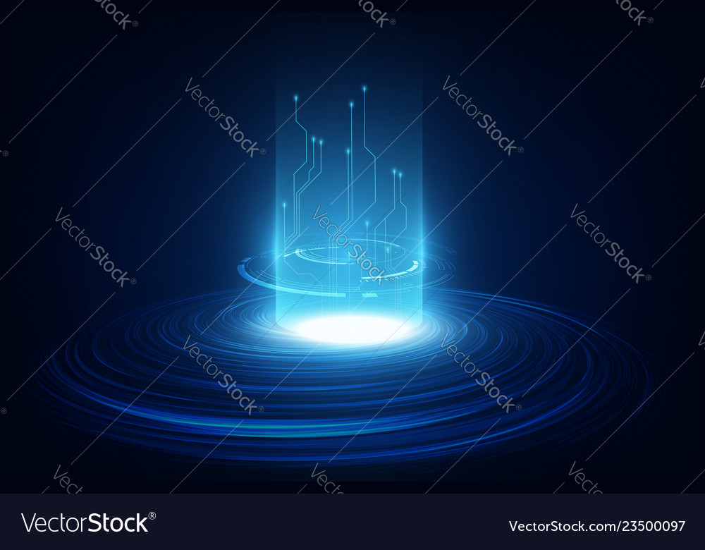 Abstract circuit networking blockchain concept