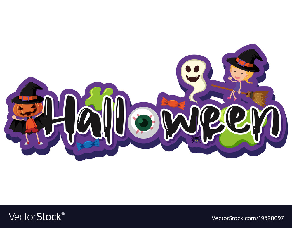 font design for word halloween royalty free vector image