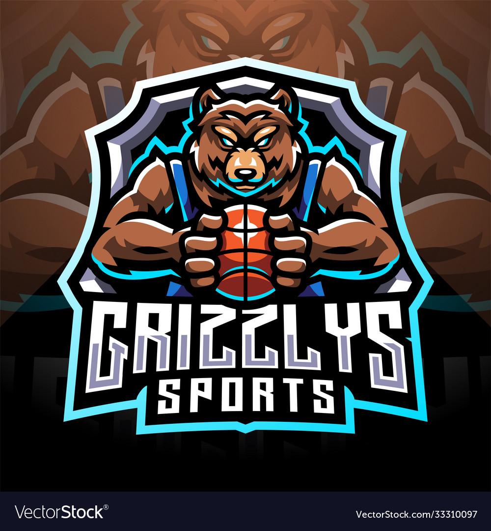 Grizzlys esport mascot logo
