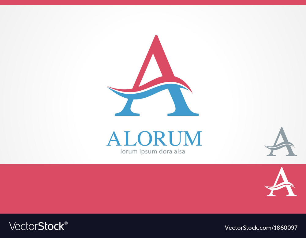Letter A Swirl Logo Template
