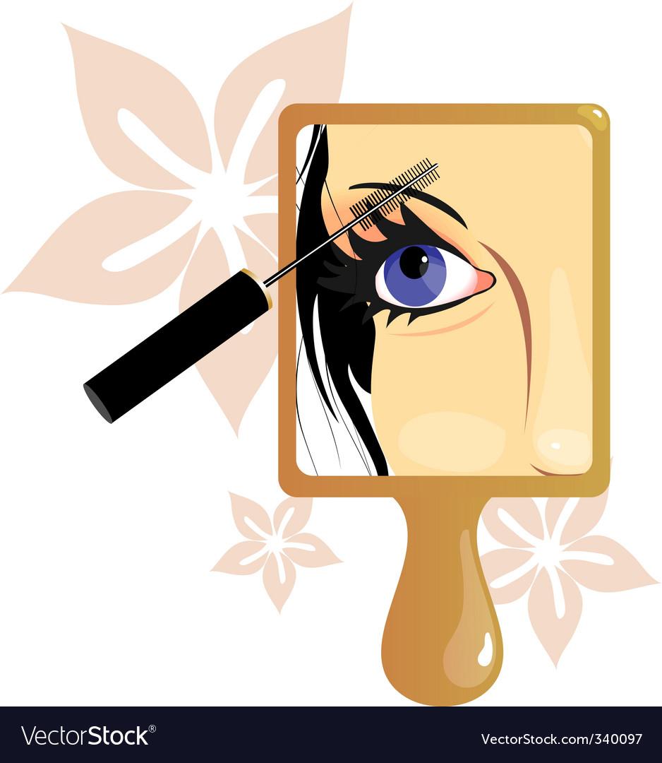 make up picture in mirror vector art download accessories vectors 340097. Black Bedroom Furniture Sets. Home Design Ideas