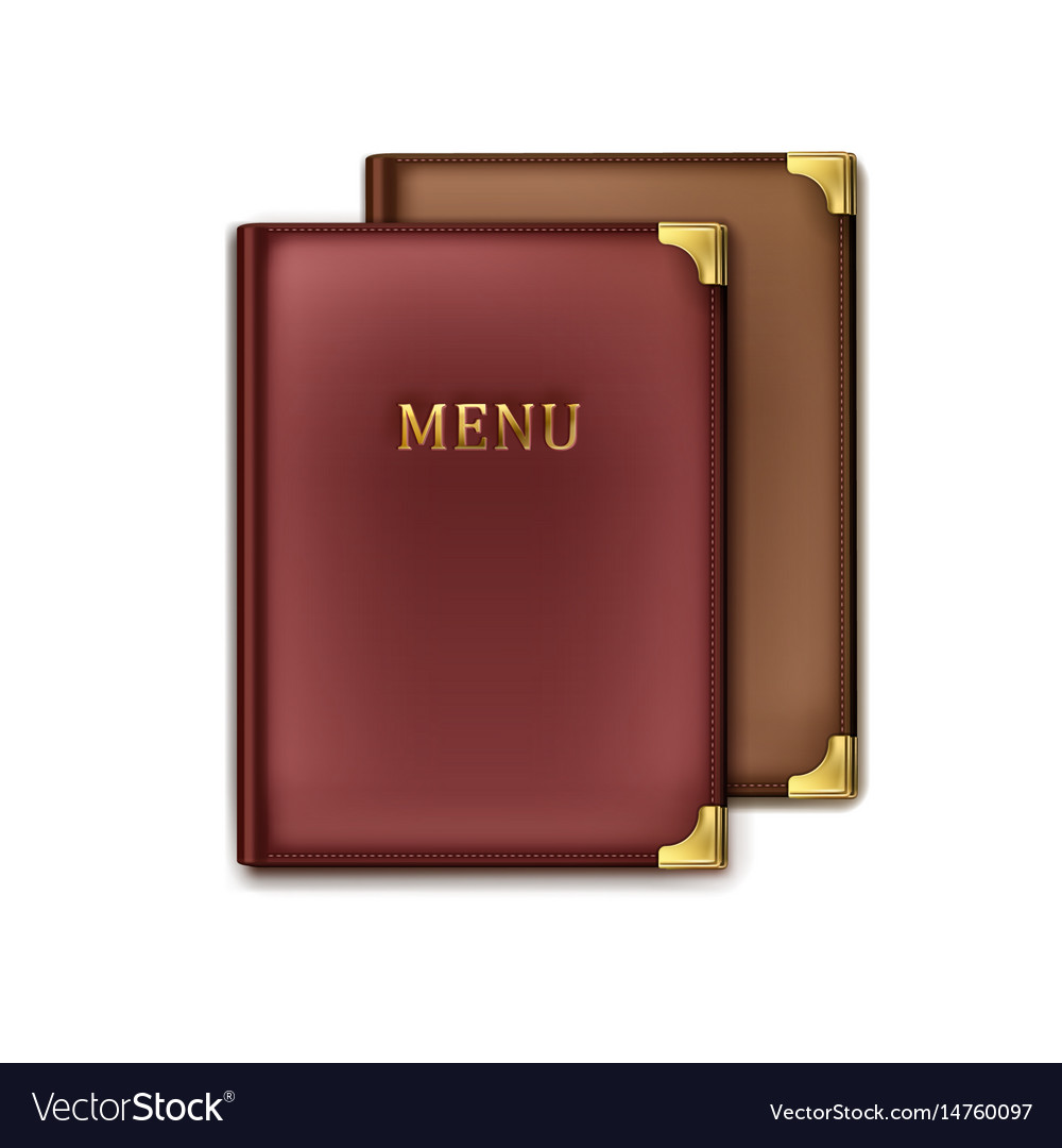 Two menu books