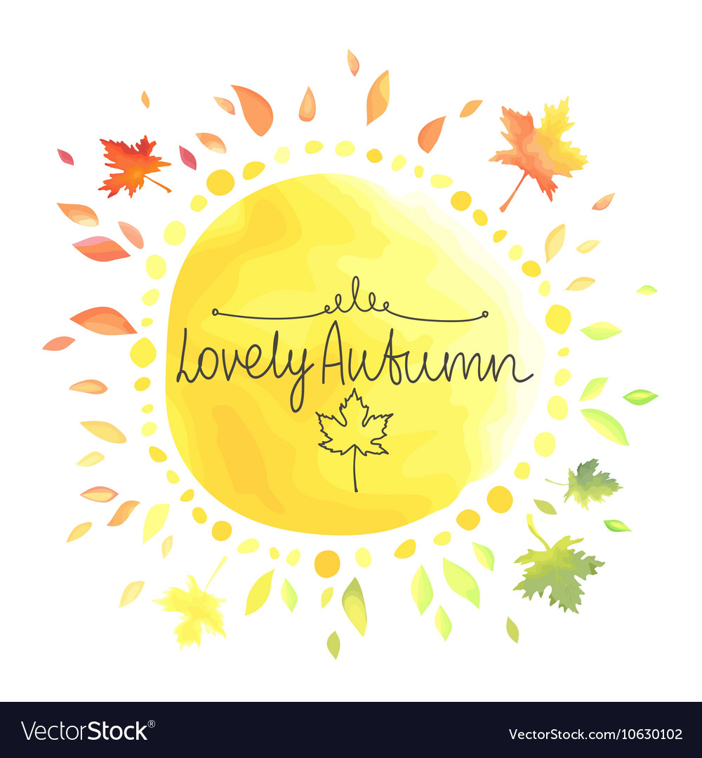 Autumn yellow background for text