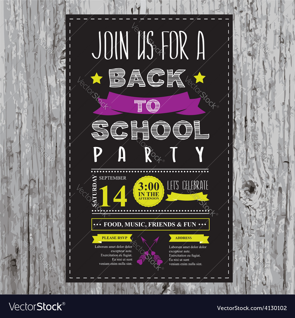 Free back to school party invitations   evite.