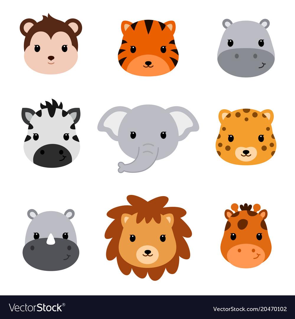 Bashower cute safari animals set 9 animal