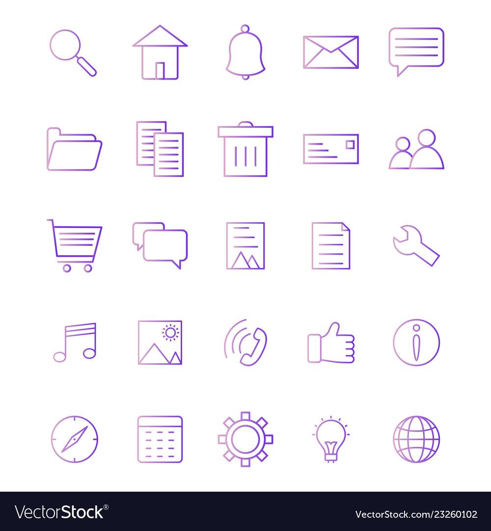 Basic ui icon set