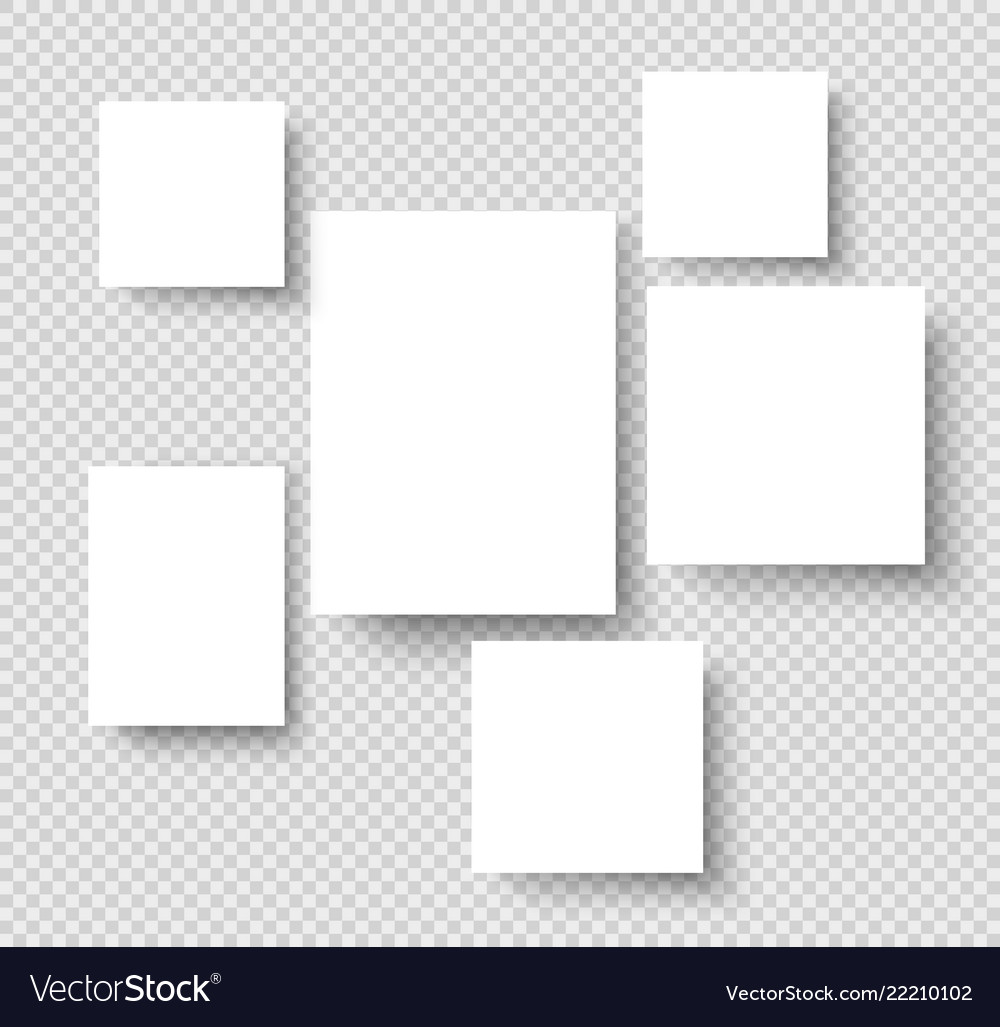 Blank hanging photo frames picture gallery paper